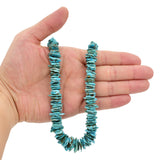 Bluejoy Genuine Indian-Style Natural Turquoise XL Graduated Free-Form Flat Disc Bead 18-inch Strand (9mm-15mm)