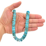 Bluejoy Genuine Indian-Style Natural Turquoise XL Heishi Bead 16-inch Strand (12mm)