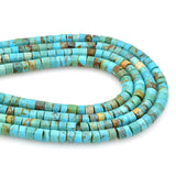 Bluejoy Genuine Indian-Style Natural Turquoise Heishi Bead 16-inch Strand (5mm)