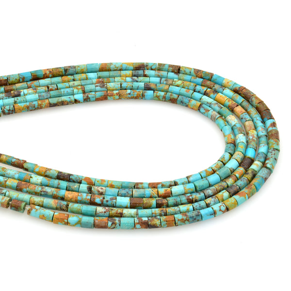 Bluejoy Genuine Indian-Style Natural Turquoise Dainty Heishi Bead 16-inch Strand (3mm)