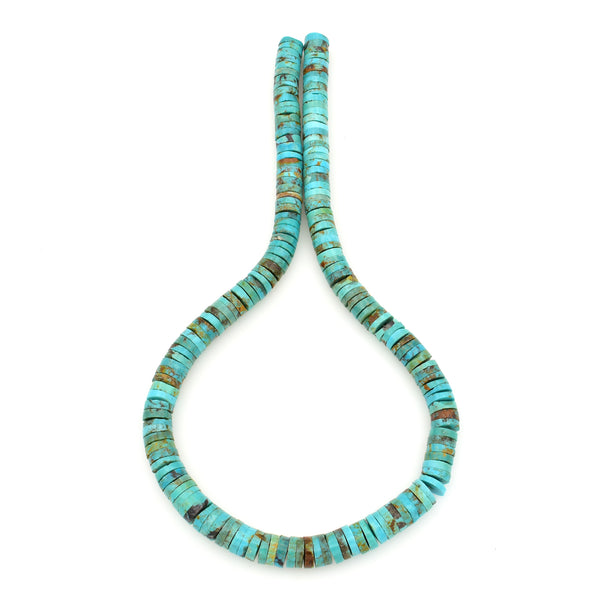Bluejoy Genuine Indian-Style Natural Turquoise Heishi Bead 16-inch Strand (9mm)