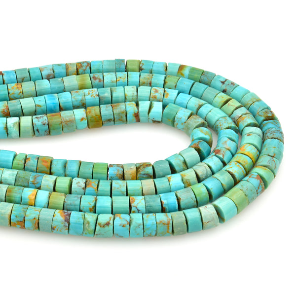Bluejoy Genuine Indian-Style Natural Turquoise Heishi Bead 16-inch Strand (6mm)