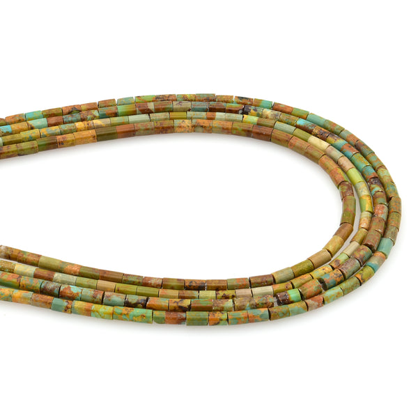Bluejoy Genuine Indian-Style Natural Turquoise Dainty Heishi Bead 16-inch Strand (2mm)