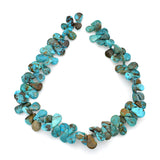 Bluejoy 14x18mm Genuine Natural American Turquoise Teardrop Bead 16 inch Strand