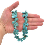 Bluejoy 12x16mm Genuine Natural American Turquoise Teardrop Bead 16 inch Strand