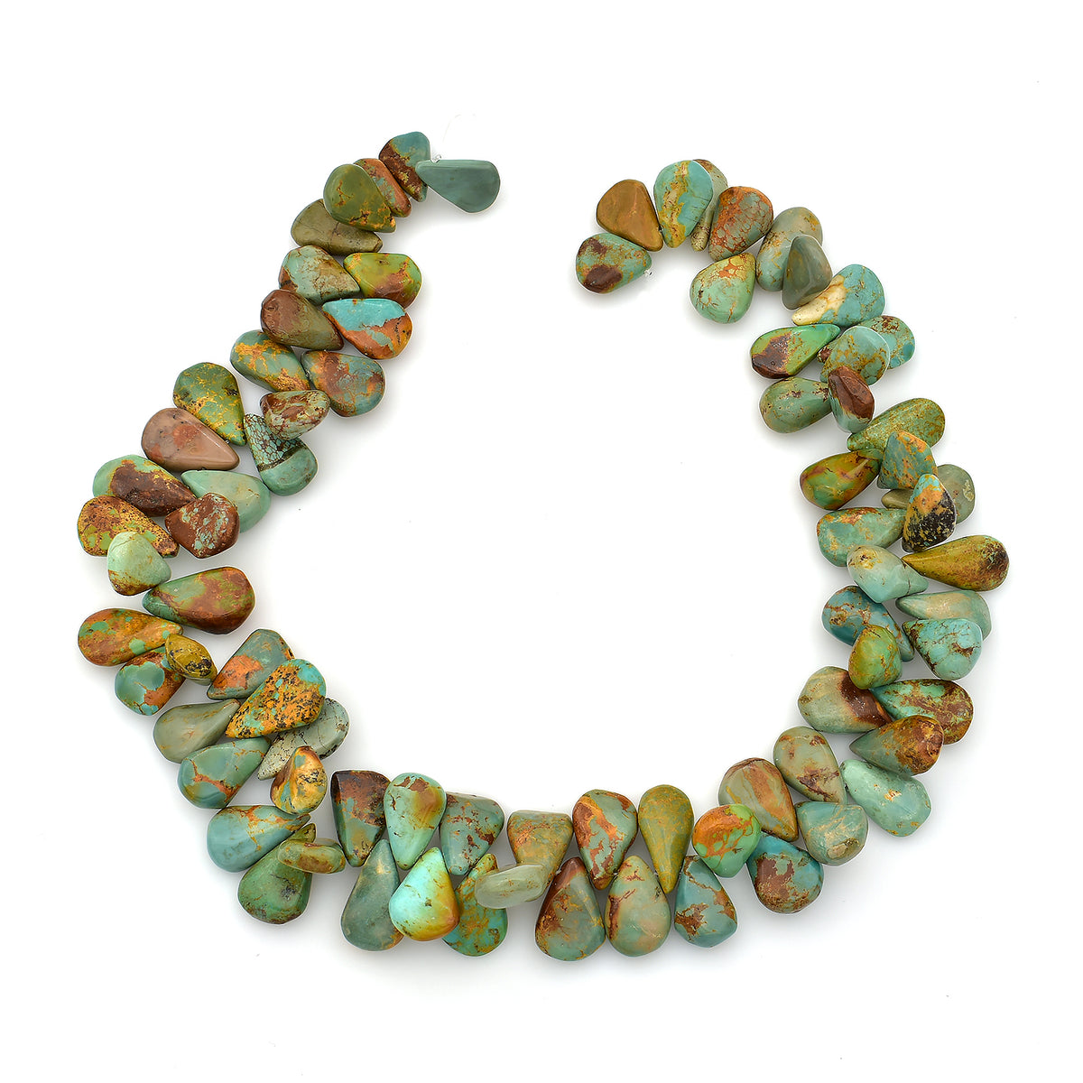 Bluejoy Genuine Natural American Turquoise 8mm Free-Form Disc Bead 16 inch Strand