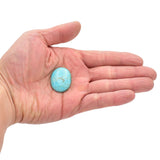 American-Mined Natural Turquoise Cabochon 22.5x28mm Oval Shape