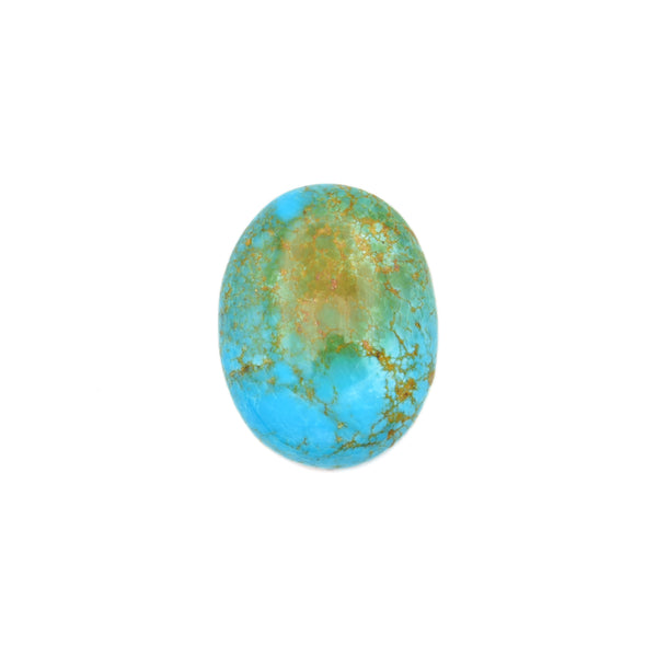 American-Mined Natural Turquoise Cabochon 21x27mm Oval Shape
