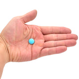 American-Mined Natural Turquoise Cabochon 13mm Round  Shape