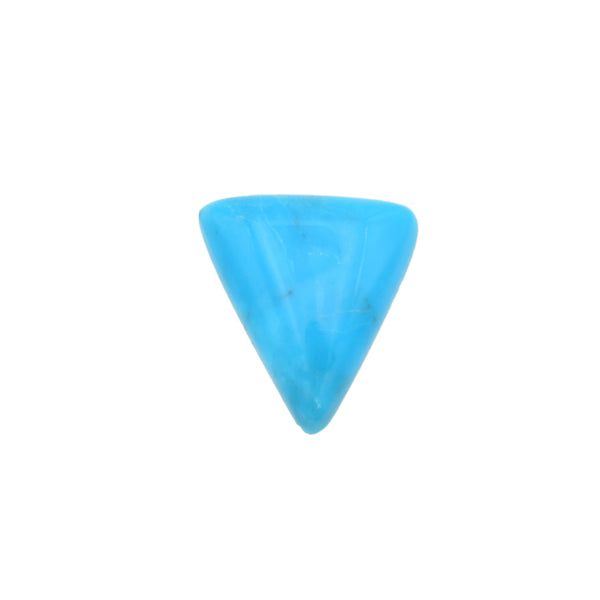 American-Mined Natural Turquoise Cabochon 10mmx11mm Triangle Shape