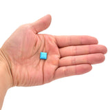 American-Mined Natural Turquoise Cabochon 11mmx11mm Cushion  Shape