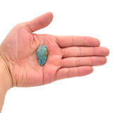American-Mined Natural Turquoise Cabochon 19mmx33.5mm Free-Form Shape