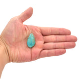 American-Mined Natural Turquoise Cabochon 19mmx33mm Free-Form Shape