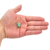 American-Mined Natural Turquoise Loose Bead 13mmx14mm Drum Shape
