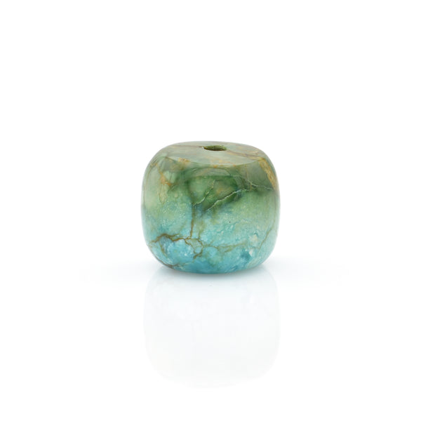 American-Mined Natural Turquoise Loose Bead 12mmx14mm Drum Shape