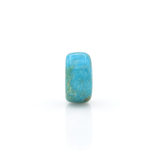 American-Mined Natural Turquoise Loose Bead 7mmx13.5mm Wheel Shape