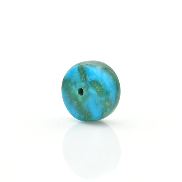 American-Mined Natural Turquoise Loose Bead 7.5mmx14mm Wheel Shape