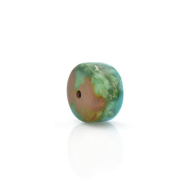 American-Mined Natural Turquoise Loose Bead 8mmx13mm Wheel Shape