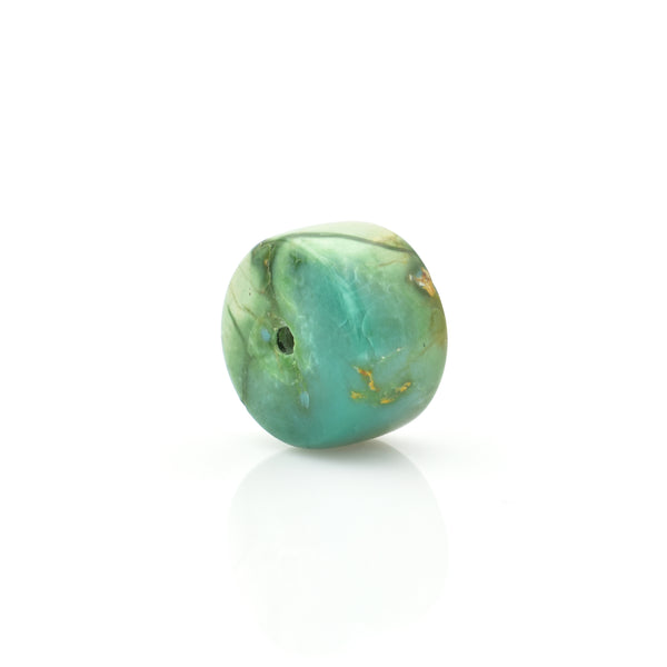 American-Mined Natural Turquoise Loose Bead 8.5mmx14mm Wheel Shape