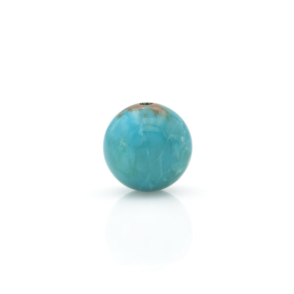 American-Mined Natural Turquoise Loose Bead 11.5mm Round Shape