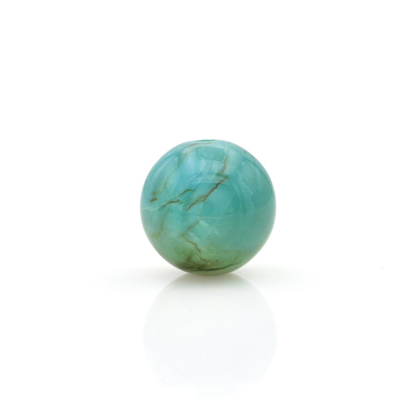 American-Mined Natural Turquoise Loose Bead 15mm Round Shape