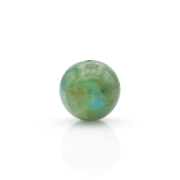 American-Mined Natural Turquoise Loose Bead 17mm Round Shape