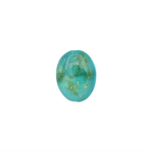 American-Mined Natural Turquoise Loose Bead 13mmx17mm Oval Shape
