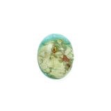 American-Mined Natural Turquoise Loose Bead 16mmx20mm Oval Shape