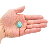 American-Mined Natural Turquoise Loose Bead 19mmx23mm Oval Shape