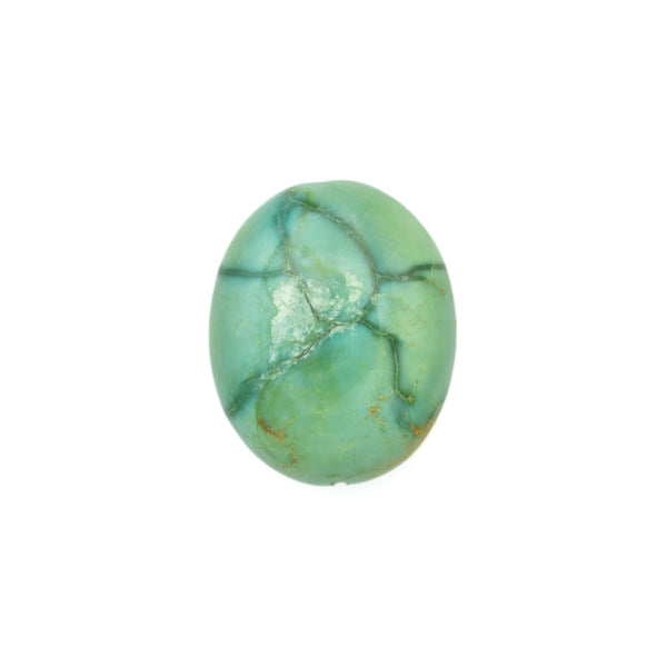 American-Mined Natural Turquoise Loose Bead 17.5mmx21.5mm Oval Shape