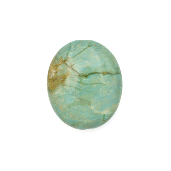 American-Mined Natural Turquoise Loose Bead 21mmx25mm Oval Shape