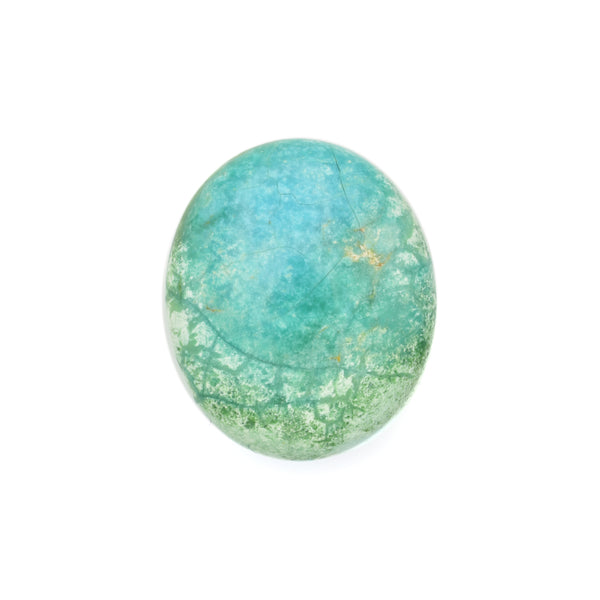 American-Mined Natural Turquoise Loose Bead 21.5mmx25.5mm Oval Shape