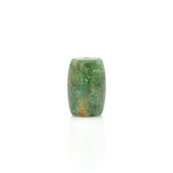 American-Mined Natural Turquoise Loose Bead 14mmx20mm Barrel Shape