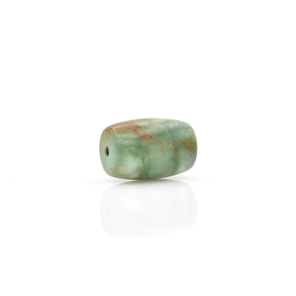 American-Mined Natural Turquoise Loose Bead 14mmx20.5mm Barrel Shape