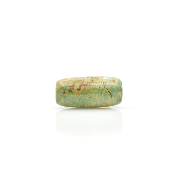 American-Mined Natural Turquoise Loose Bead 13.5mmx29mm Barrel Shape