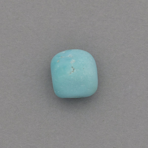 American-Mined Natural Turquoise Loose Bead 9mm Matte-Finish Nugget