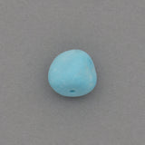 American-Mined Natural Turquoise Loose Bead 8mm Matte-Finish Nugget