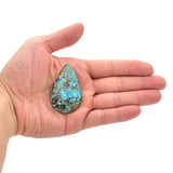 American-Mined Natural Turquoise Loose Bead 32mmx51.5mm Teardrop Shape