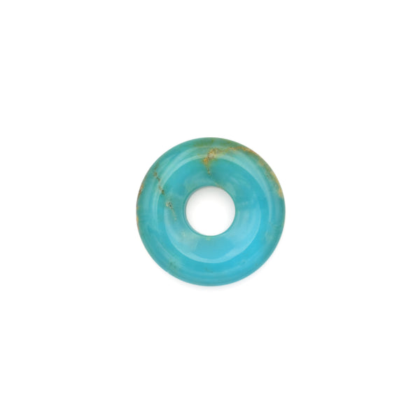 American-Mined Natural Turquoise Loose Bead 22.5mm Donut Shape