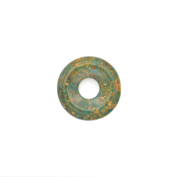 American-Mined Natural Turquoise Loose Bead 23mm Donut Shape