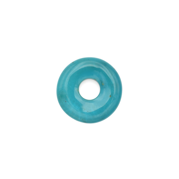 American-Mined Natural Turquoise Loose Bead 23.5mm Donut Shape