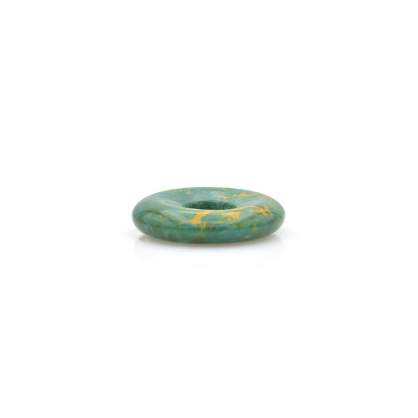 American-Mined Natural Turquoise Loose Bead 24mm Donut Shape