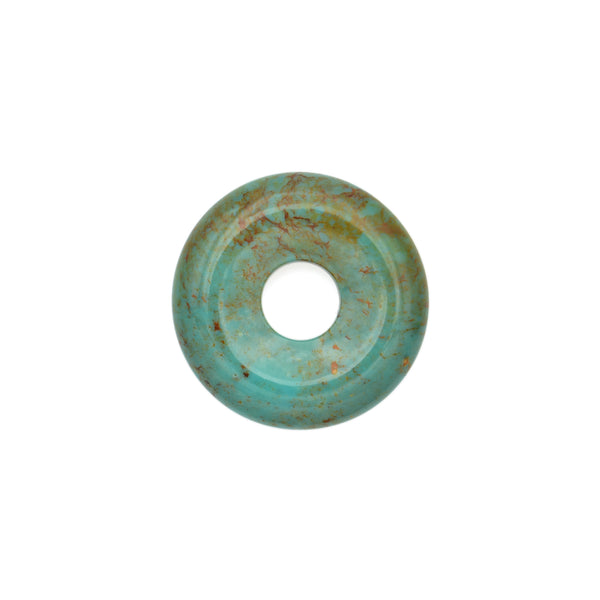 American-Mined Natural Turquoise Loose Bead 25mm Donut Shape