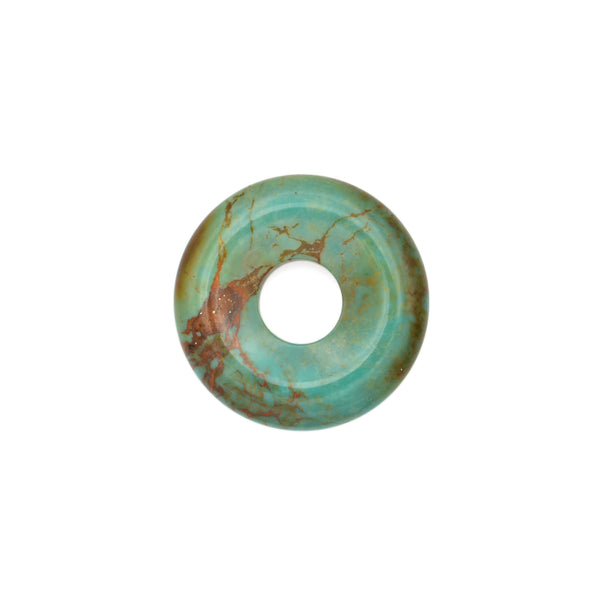 American-Mined Natural Turquoise Loose Bead 25.5mm Donut Shape