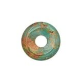 American-Mined Natural Turquoise Loose Bead 27.5mm Donut Shape