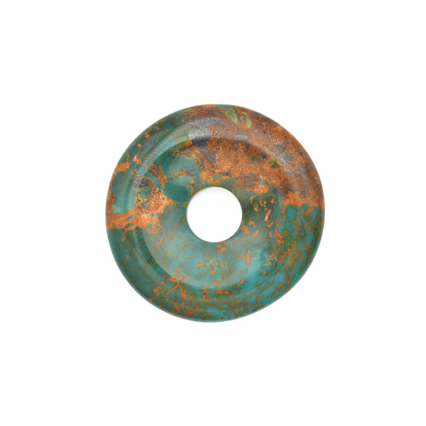 American-Mined Natural Turquoise Loose Bead 33mm Donut Shape
