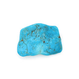 American-Mined Natural Turquoise Old Indian Style Loose Bead 30mmx40mm Free-Form Flats