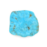 American-Mined Natural Turquoise Old Indian Style Loose Bead 40mmx44mm Free-Form Flats
