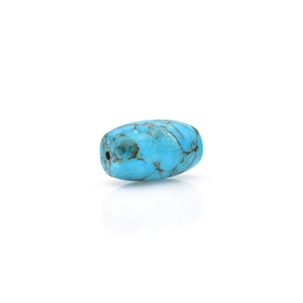 American-Mined Natural Turquoise Mosaic Loose Bead 11.5mmx19mm Barrel Shape