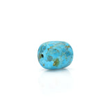 American-Mined Natural Turquoise Polychrome Loose Bead 16mmx17mm Drum Shape